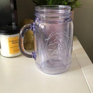 Plastic double wall mason jar cup (no lid)